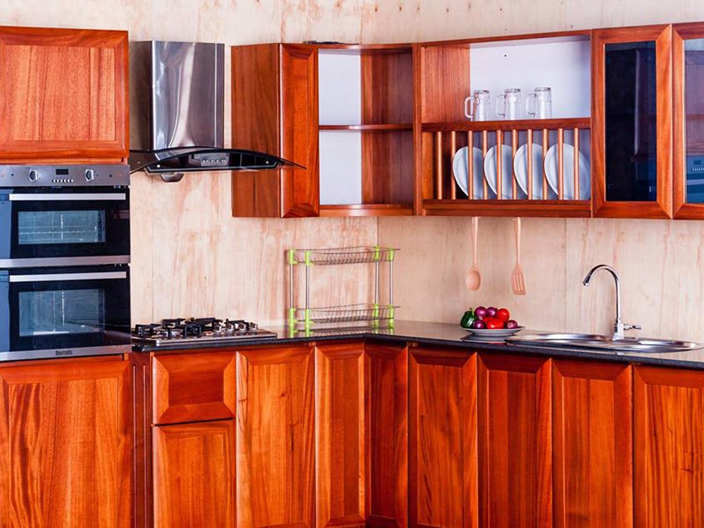 Kitchen cabinets for sale in Uganda, Mahogany & hardwood kitchen cabinets in Kampala Uganda, a product of Mayondo Engineering Works, Ugabox